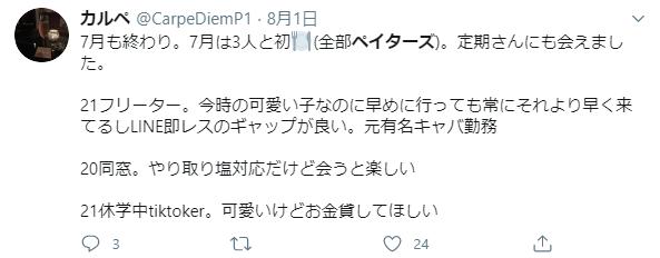 ぺイターズのTwitterの口コミ